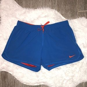 Nike Shorts Women's Size Medium Blue Orange